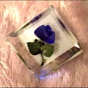Clear Lucite Brooch Pin